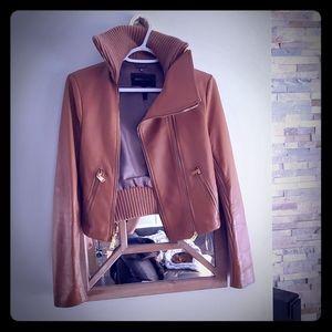 BCBG Small leather Tan jacket